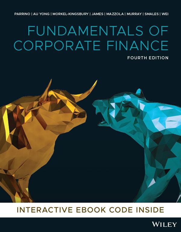 Parrino Fundamentals of Corporate Finance 4E cover