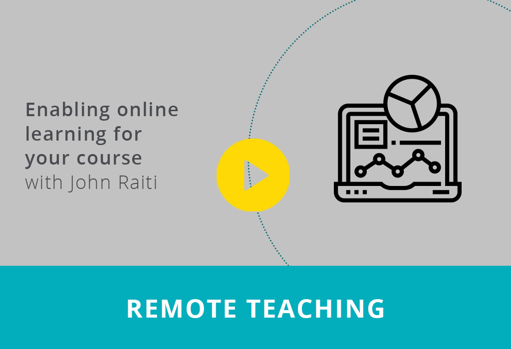 Enabling online learning for your course webinar thumbnail